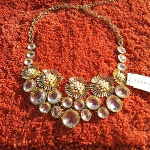 Talbots Rhinestone Floral Necklace